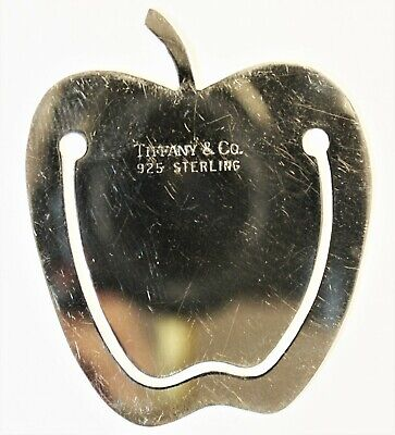 **Authentic TIFFANY & CO Sterling Silver Apple-Shaped Bookmark * FREE SHIPPING