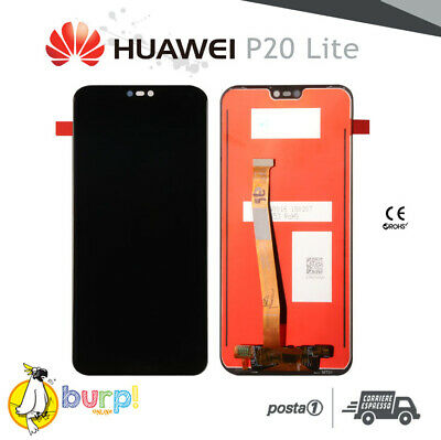 Display Lcd + Touch Screen Huawei P20 Lite Nero Black Schermo Assemblato Aaa+