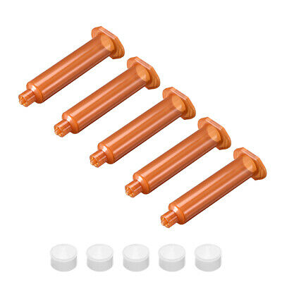 10CC/10ML Brown Adhesive Syringes Tube Sleeve with Piston for Industrial, 5 Pcs