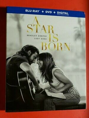 A Star Is Born (2018)(Blu-ray + DVD + Digital) BRAND NEW w/Slipcover