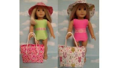 """18/"""" Doll Swimsuit Set fits 18 inch American Girl Doll Clothes 752abc"""