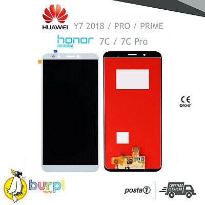 Display Lcd Touch Screen Huawei Y7 2018 / Prime E Pro / Honor 7C Bianco Ldn-L01