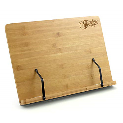 Theodore Bamboo Tabletop Book Rest Sheet Music Stand Adjustable Desktop Stand x