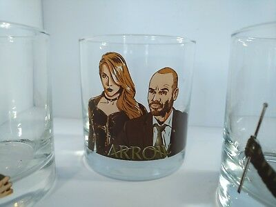 Arrow TV Series Crew Gift Set of 3 Drinking Glasses Characters
