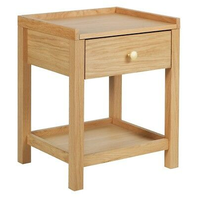 44c095096593 Habitat DRIO Oak Bedside Table With 1 Drawer And Shelf - 779913 (BL276)