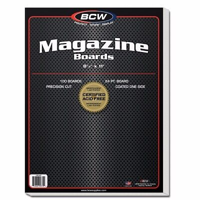 Magazine Backing Boards, 8.5 x 11 inches x 100 board pack