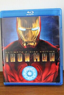 Marvel IRON MAN-Ultimate 2- Disc Blu-Ray Edition  VGC