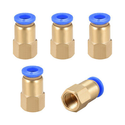 "Push to Connect Tube Fitting Adapter 6mm OD x G1/8"" Female 5pcs"