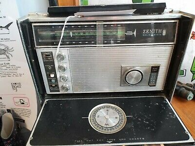 Vintage Zenith Trans-Oceanic Royal D7000Y 11-Band Solid State SW Radio w/ Manual