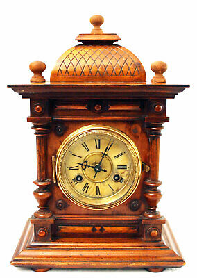 ِAntique 19Th Century Junghans Wall Clock Made Of Walnut Vintage Collectibles