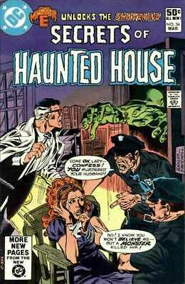 Secrets of Haunted House #34 in Fine condition. DC comics [*e4]