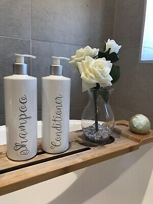 Personalised Mrs Hinch Bathroom Shampoo Conditioner Pump Dispenser Bottles
