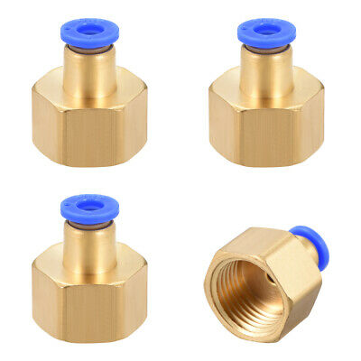 "Push to Connect Tube Fitting Adapter 6mm OD x G1/2"" Female 4pcs"