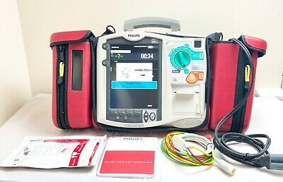 *UK SELLER* PHILIPS MRX HEARTSTART AED DEFIB WITH Co2 & ECG M3535A DOM 2010 FR2+
