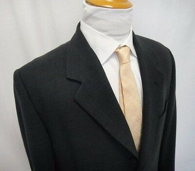 Banana Republic Blazer 42R Black 100% Wool 3 Buttons Sports Jacket Made in Italy