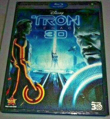 Disney's TRON: LEGACY (Blu-ray/DVD, 2011, 4-Disc Set, 3D) Jeff Bridges