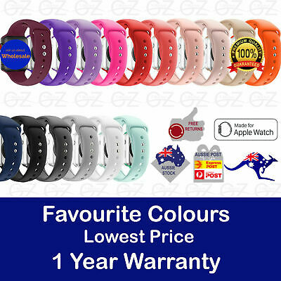 Sports Silicone Bracelet Strap Band Apple Watch iWatch Series 4/3/2/1 38 to 42mm