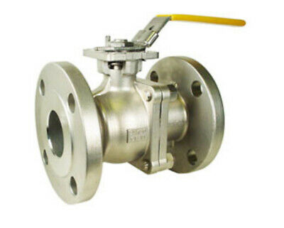 "NEW Valworx 2"" Stainless ANSI 150# Flanged Ball Valve; 553016"
