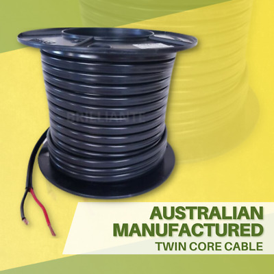 TWIN CORE 6mm 30M WIRE CABLE CARAVAN TRAILER AUTOMOTIVE 12V 2 SHEATH BATTERY
