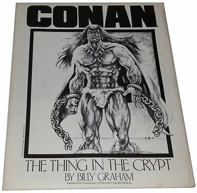 Conan Portfolio The Thing in the Crypt Billy Graham 6 Plates