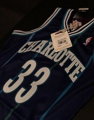 2e33f5ee0 100% Authentic Alonzo Mourning Mitchell Ness 94 95 Hornets Jersey Size 40 M