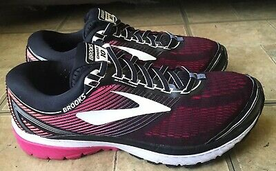 f5d61903aae Brooks Ghost 10 Running Shoes Black Pink White Women Size 10 Wide