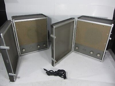 Two Rare Vintage 60's Ampex 2010 Tube Suitcase Amplifiers Amps