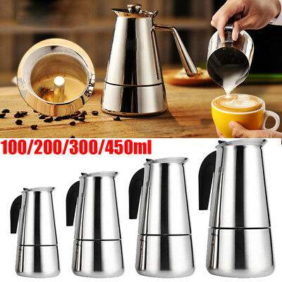 New Stainless Steel Stovetop Espresso Coffee Maker Percolator Pot Moka Tool Home