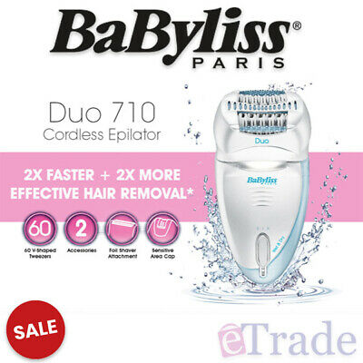 BaByliss Paris Waterproof Dual Head Cordless Epilator Shaver Hair Remover B710A