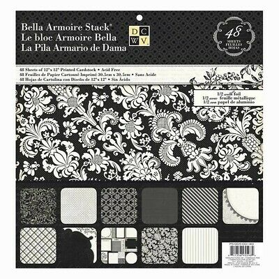 """DCWV  - Cardstock Stack Bella Armoire 12"""" x 12"""" - 48 sheets"""