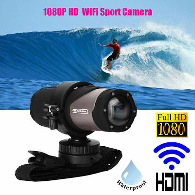 Waterproof Wifi HD 1080P Sports Action Camera DVR Cam Camcorder Bike Helmet DV
