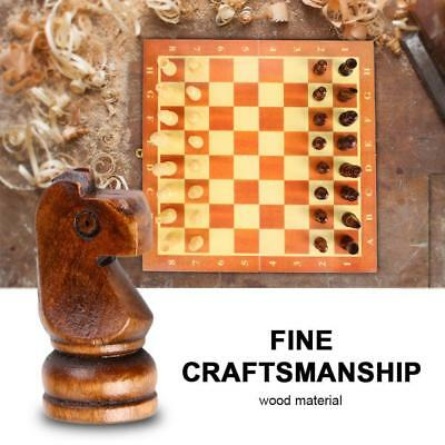 Wooden Folding Chess Board Game Set Handmade 10 Inches Diy