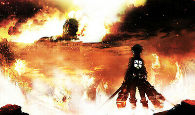 E98 Attack on Titan Colossal Titan Anime CCG Playmat Yugioh Play Mat Mouse Pad