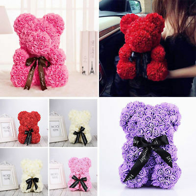 Teddy Bear Lovely Big Red Rose Flower Bear Toy Creative Valentine'S Mother Gifts