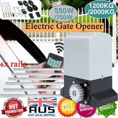 Sliding Electric Swing Gate Opener 1200KG / 2000KG Automatic Remote Kit 6M Track