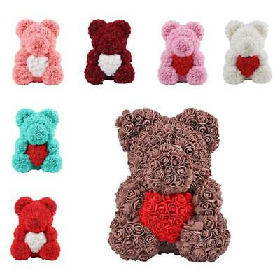 2019 Rose Flower Teddy Bear Perfect For Valentine's Mother's Day Gift re3