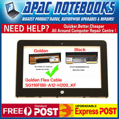 """11.6"""" Touch Screen Digitizer Glass HP PAVILION 11-AB Series X360 with frame GOLD"""