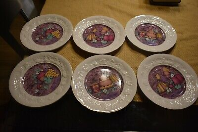Gien France Style Boitard France Marie Perre Set Of 6 Plates