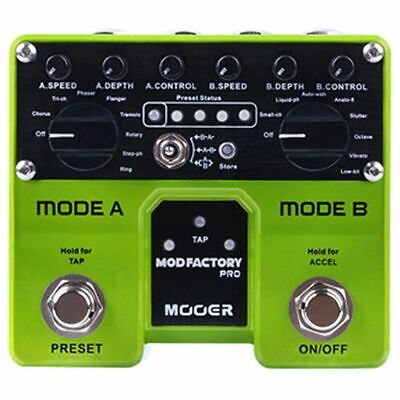 MOOER Mod Factory Pro 2 Independent Processing Modules Containing A Total O D1D7