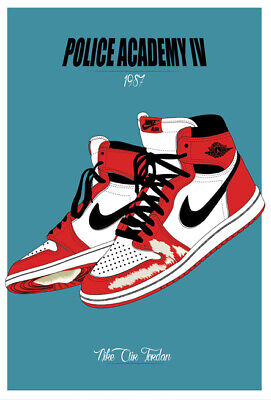 21b1349a50e30a Z-1855 Hot Michael Jordan Shoes AJ Air Max Sneaker History Art Poster Decor