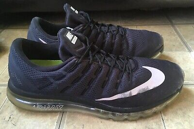 finest selection 13de6 ffc26 NIKE AIR MAX 2016 Black White-Dark Grey Running Shoes 806771-001 Men Size  14 -  35.00   PicClick