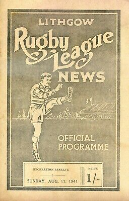 1941 Rugby League News Lithgow NSW Australia South Sydney VS Group 10
