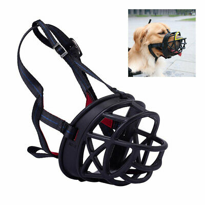 Ultra Adjustable Padded Dog Muzzle Plastic Basket Large Medium All Sizes Black