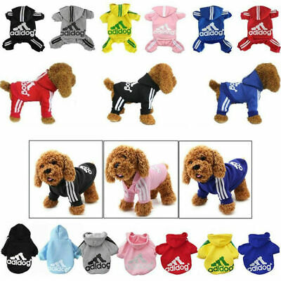Casual Adidog Pet Puppy Jumpsuit Dog Winter Warm Clothes Hoodie Sweatshirt F US