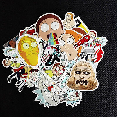 35Pcs Rick and Morty Car L Sticker aptop Bicycle Notebooks Waterproof Sticker