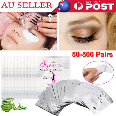 500Pairs Eye pads Eyelash Pad Gel Patch Lint Lashes Extension Mask Eyepads AU