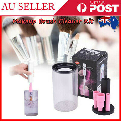 Electric Cosmetic Wash Dryer Brush Cleaning Tool Kit Makeup Brush Cleaner Set AU
