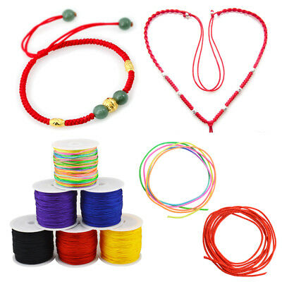 0.8mm x 45m DIY Waxed Cotton Cord Wire Thread Beading Macrame String Jewelry