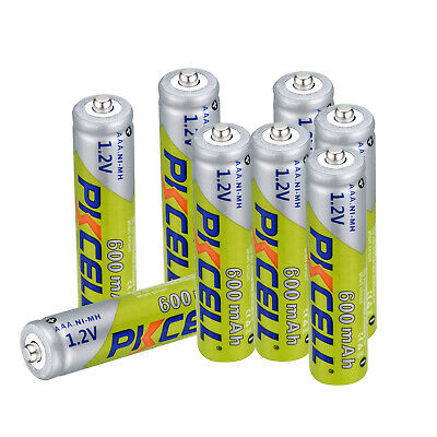 8pcs PKCELL AAA Rechargeable Battery 1.2V Ni-MH 600mAh Batteries For Toy Camera