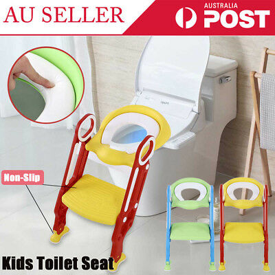 Children Toddler Kids Toilet Training Ladder Seat Chair Potty Trainer/Ring/Step